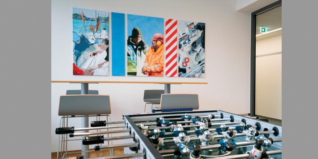 Gemälde von Meike Kohls für Kommzone bei tesa SE