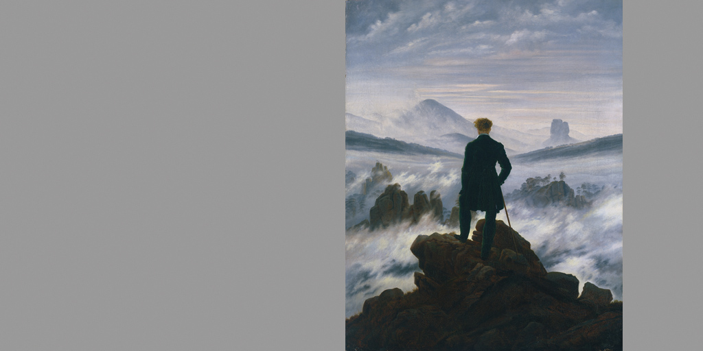 Künstler Caspar David Friedrich - Wanderer über dem Nebelmeer - © SHK Hamburger Kunsthalle
