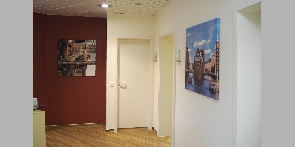 Fotodrucke für Flur im MVZ Buntenskamp GmbH