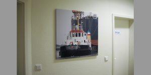 Fotodruck Motiv Lotsenboot für Flur im MVZ Buntenskamp GmbH