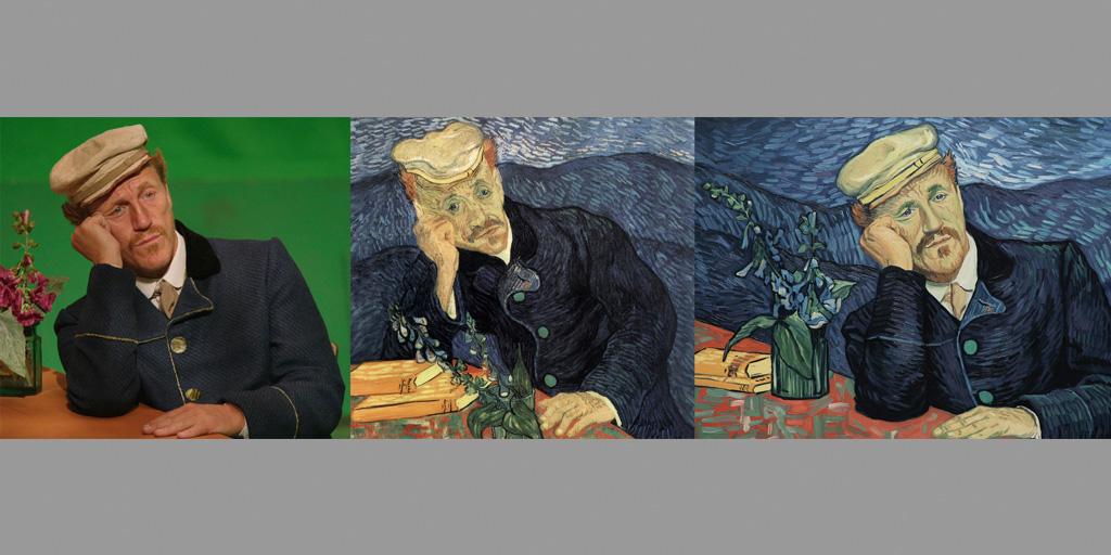 Loving Vinvent Portraitvergleich Dr. Gachet