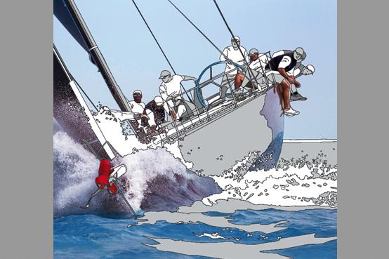 Gemälde von Meike Müller mit Segelboot