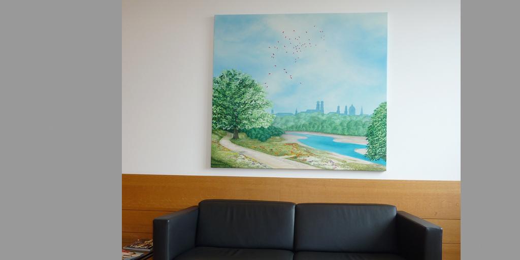 Gemälde von Meike Kohls für MLL GmbH, Empfangsbereich