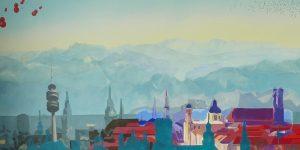Ausschnitt aus einem Gemälde von Meike Kohls