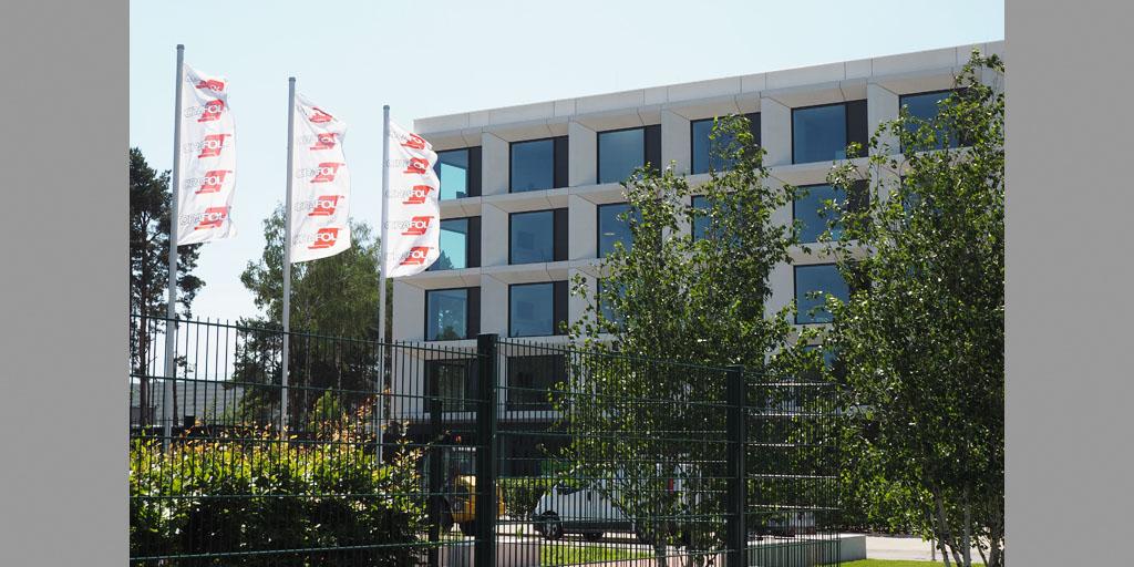 Ansicht Verwaltungsgebäude Orafol Europe GmbH