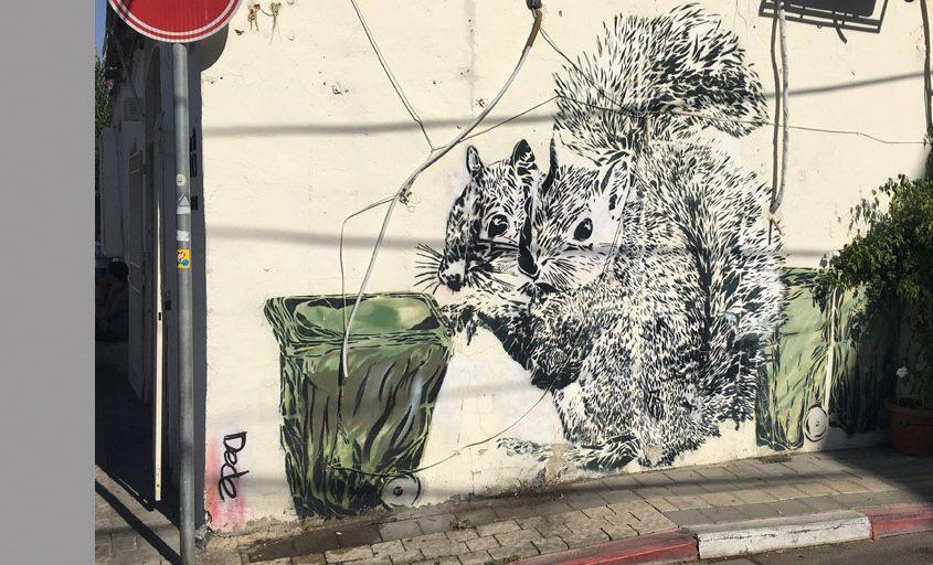 Street Art von DEDE in Tel Aviv