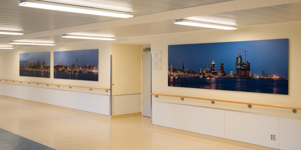 Panoramadruck - Flur - Skyline Hamburg