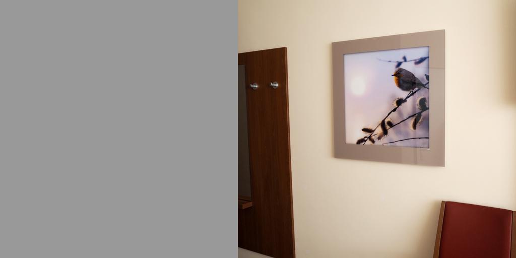 Beispiel für Acrylglas für Fotodrucke aus der Klinik Asklepios in Altona