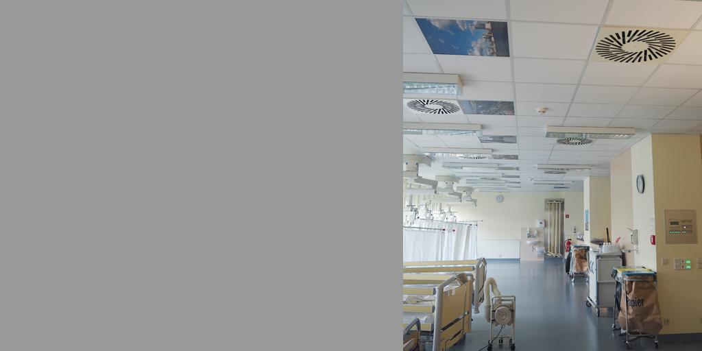 Raumansicht mit mehreren Deckenplatten