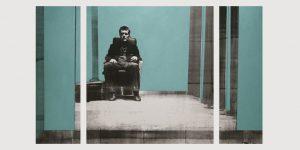 Siebdruck Raum 1 von Birgit Lindemann