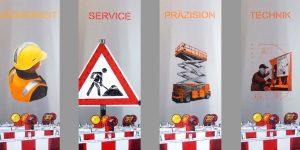 Siebdrucke von Meike Kohls für AFI GmbH Arbeitsbühnen
