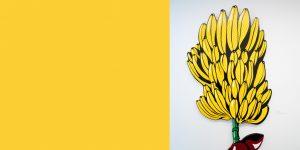 Wandrelief Bananenstaude von Meike Kohls