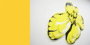 Wandrelief mit gelber Rapsblüte von Meike Kohls