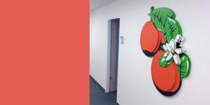 Wandrelief Orangen von Meike Kohls