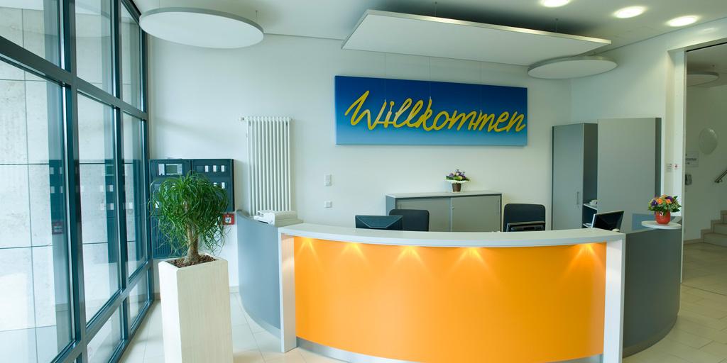 Wortkunst Willkommen - Empfangsbereich ILS, Hamburg
