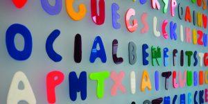 Wortkunst des Künstlers Rupprecht Matthies - Buchstabensuchbild