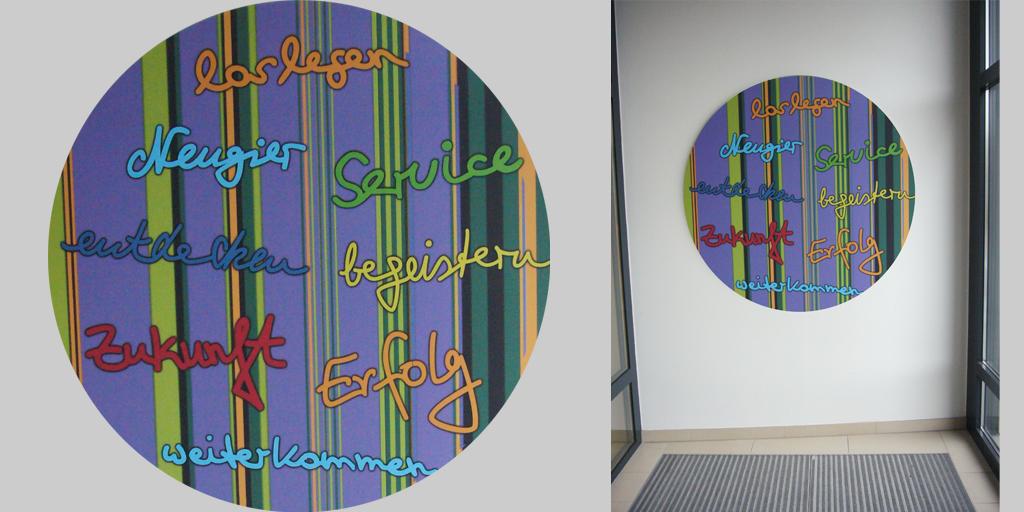 Wortkunst - Projekt ILS Hamburg - Künstler Rupprecht Matthies - Botschaften - Eingangsbereich