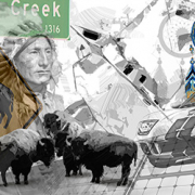 Illustration: black-creek-georgia von Uwe Fehrmann